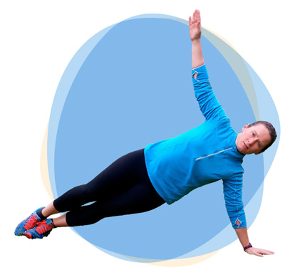 outdoor exercise pose