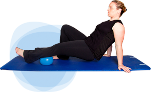 Myofasical release on mat with ball